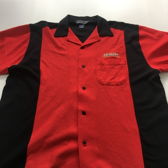 Hilton Other - Smirnoff Shirt Button Casual Hilton Red Black L